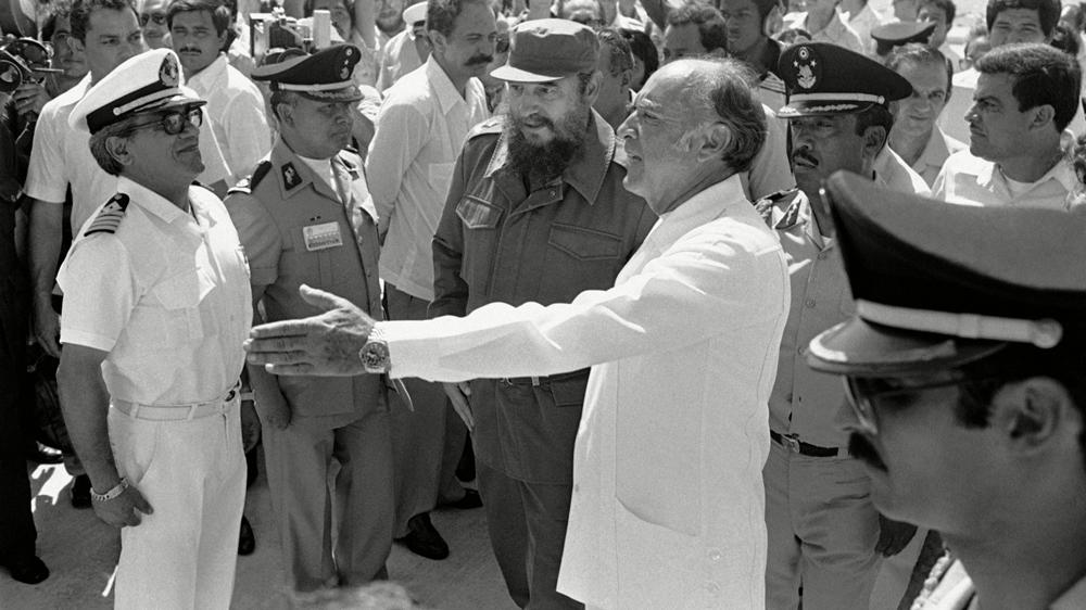 Fidel Castro and José López Portillo