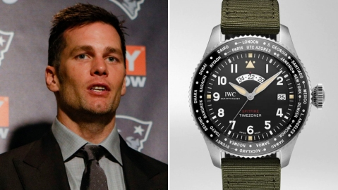 "Tom Brady and his IWC Pilot's Watch Timezoner Spitfire Edition ""The Longest Flight"""