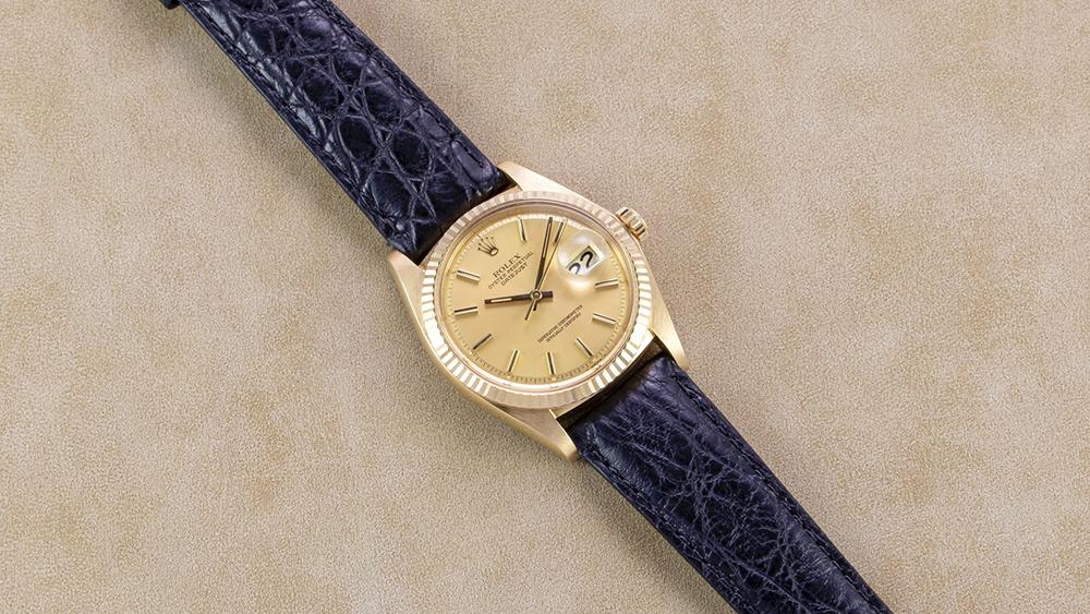 Rolex 18K Yellow Gold Lemon Datejust Watch