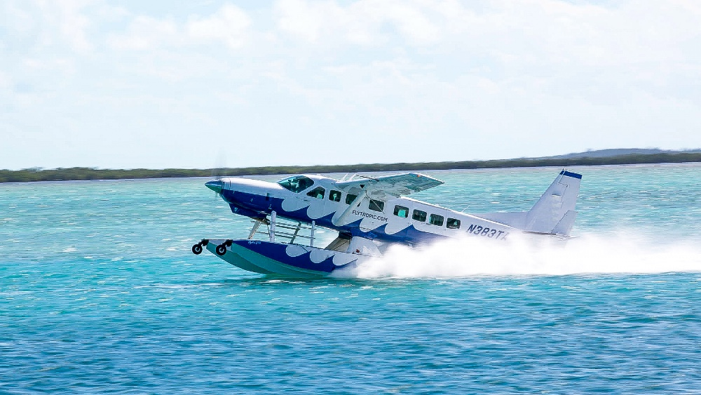 Seaplanes Flying to Yachts