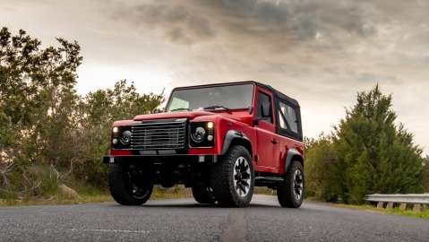 Himalaya's 70th Anniversary Defender restomod.