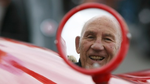 Sir Stirling Moss at the Silverstone Classics Race Meeting in 2010.