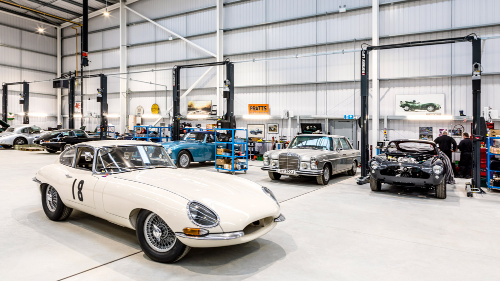 Woodham Mortimer, a classic-car restoration house, moves into a new facility.