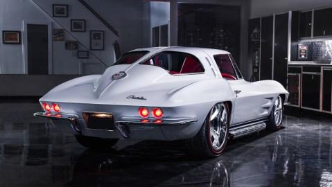 A 1963 Chevrolet Corvette Custom Split-Window Coupe.
