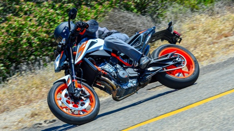 The 2020 KTM 890 Duke R motorcycle.
