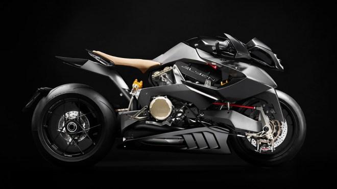 The Vyrus Alyen 988 motorcycle.