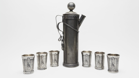 Derby Silver Company Golf Cocktail Set