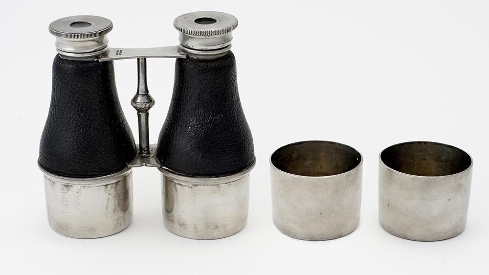 James Dixon Sons Binocular Double Spirit Flask