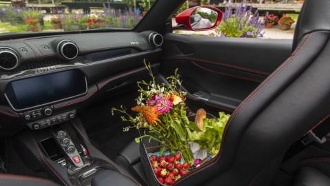 Inside the Ferrari Portofino.