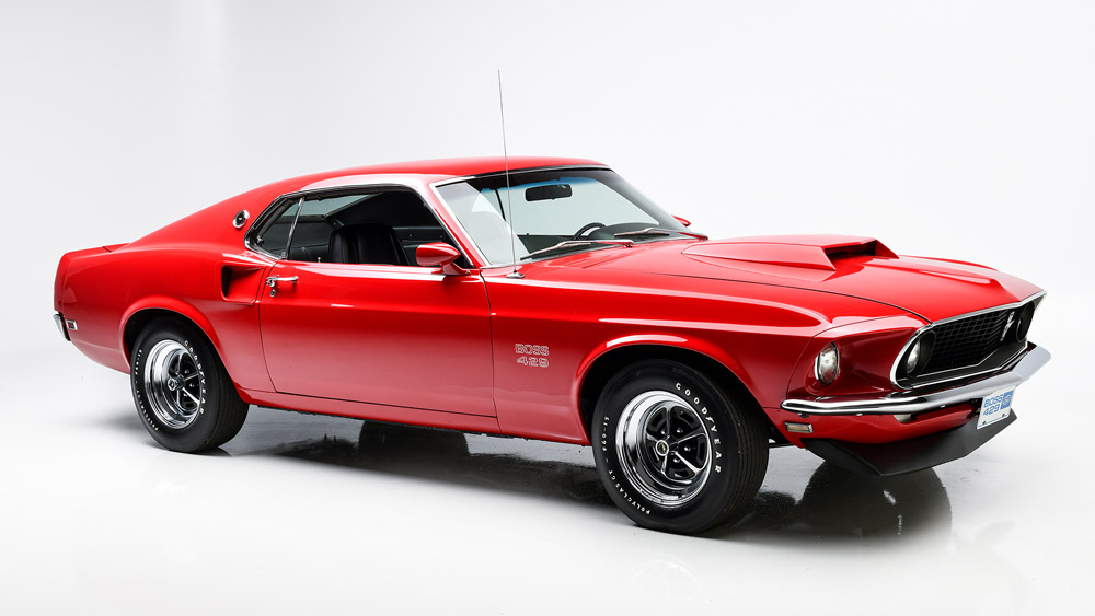 A 1969 Ford Mustang Boss 429.