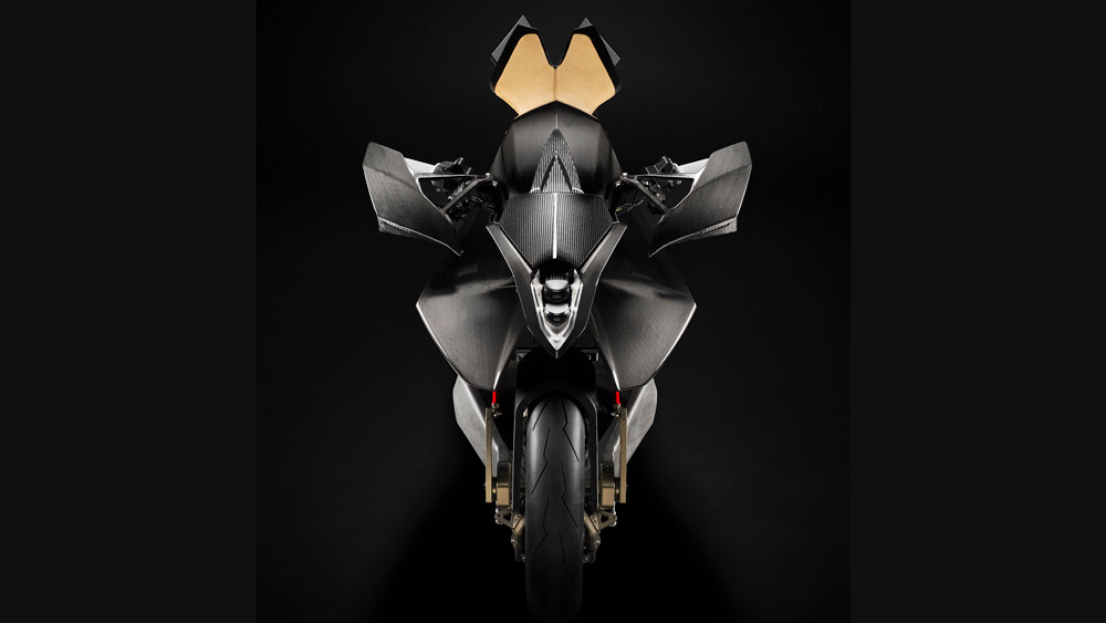 The Vyrus Alyen 988 motorcycle.