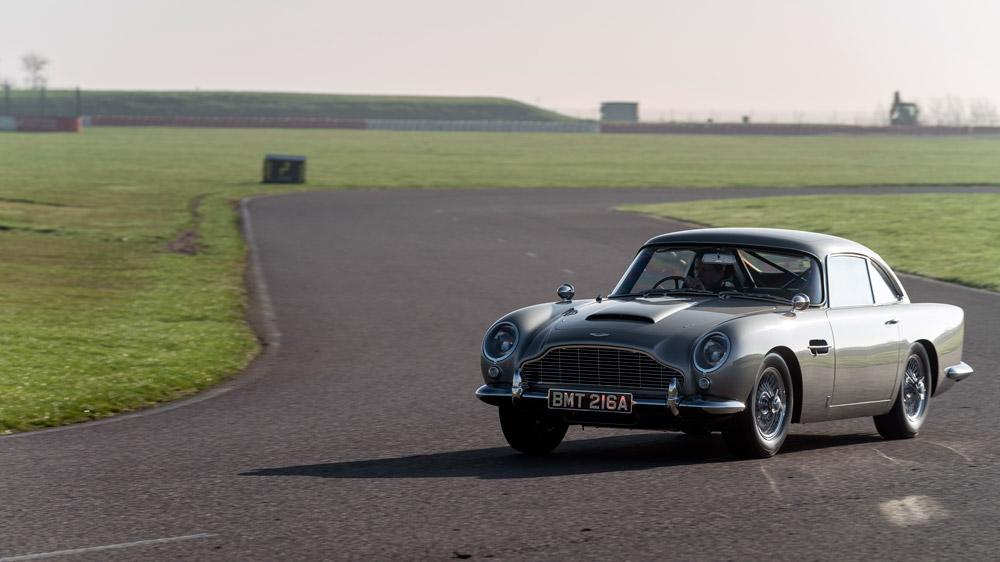 The replica Aston Martin DB5 used for stunts in latest Bond film.
