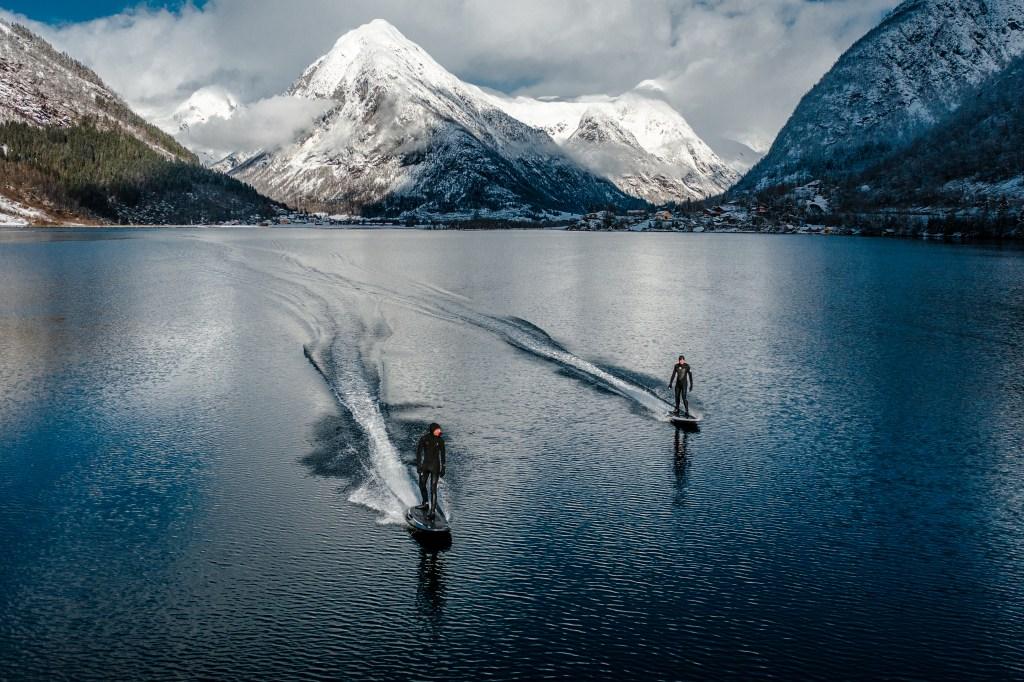 Radinn Team Brings Jetboards to Norwegian Fjord