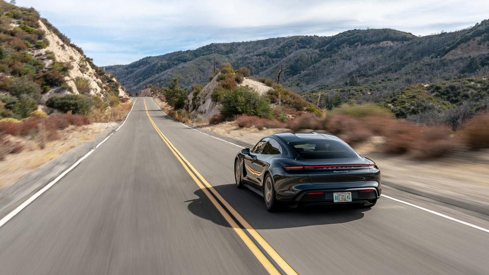 The 2020 Porsche Taycan 4S.