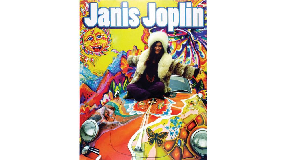 Poster: Janis Joplin on Columbia, ca. 1960s.