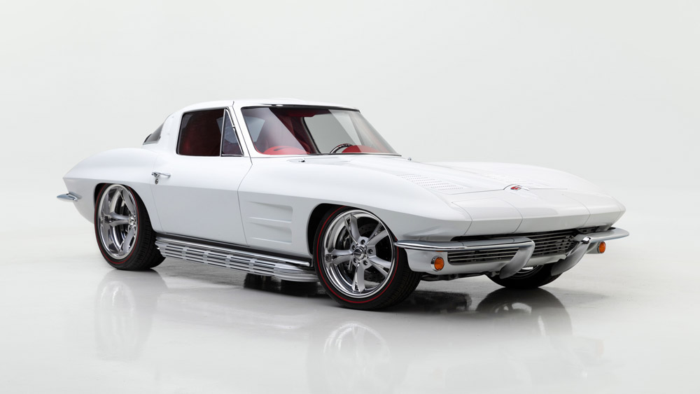 A 1963 Chevrolet Corvette Custom Split-Window Coupe.