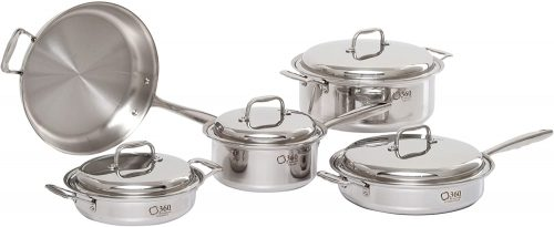 360 Stainless Steel 9-piece Cookware Set