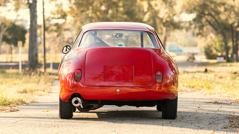 A 1960 Alfa Romeo Giulietta Sprint Zagato.