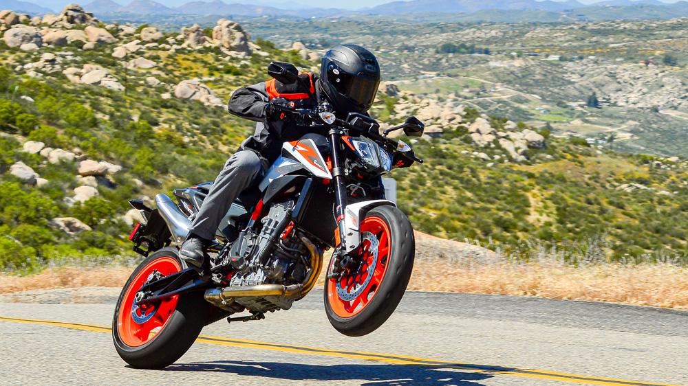 The 2020 KTM 890 Duke R motorcycle.