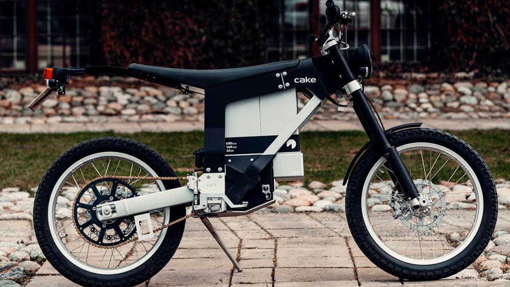The Kalk INK SL electric motorcycle from Cake.