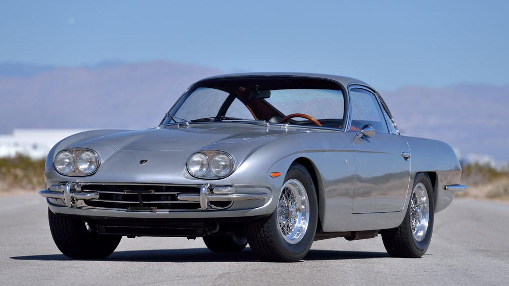 An unrestored 1967 Lamborghini 400GT 2+2.