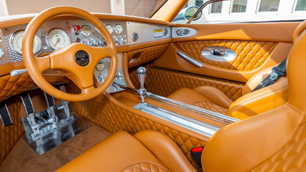 The interior of a 2007 Spyker C8 Laviolette.