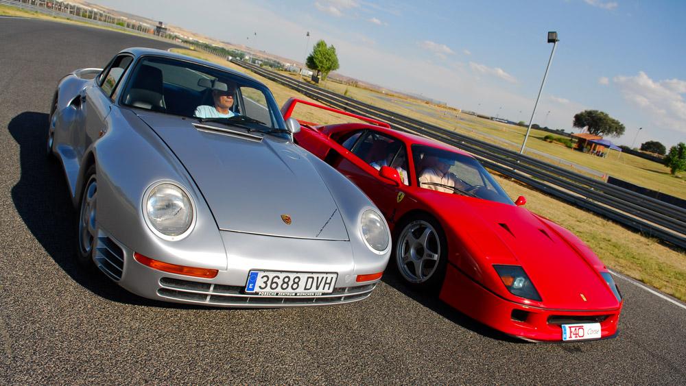 The Ferrari F40 and Porsche 959.