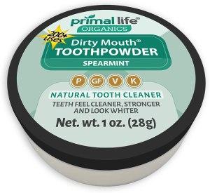 Primal Life Organics tooth powder