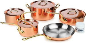 Mauviel M'heritage copper cookware set