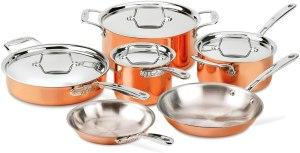 All-Clad copper cookware set