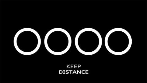 Audi's social distancing-inspired logo