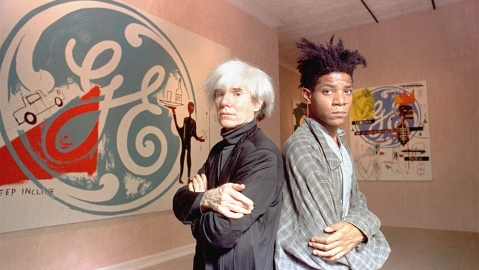 Andy Warhol and Jean-Michel Basquiat in 1985