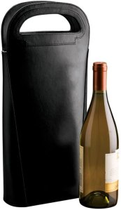 Black Leather Wine Carrier