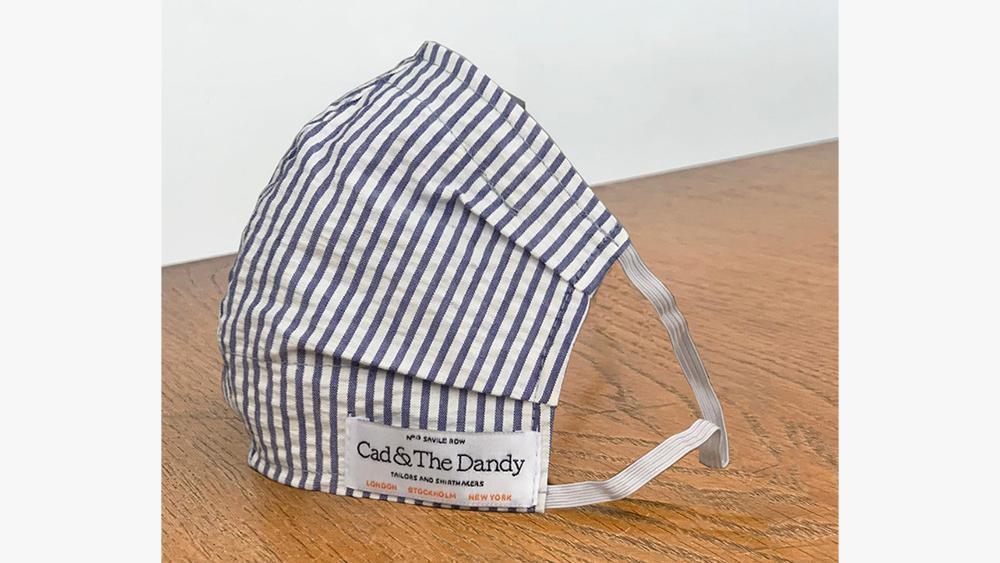Cad & The Dandy Seersucker Stripe Face Mask