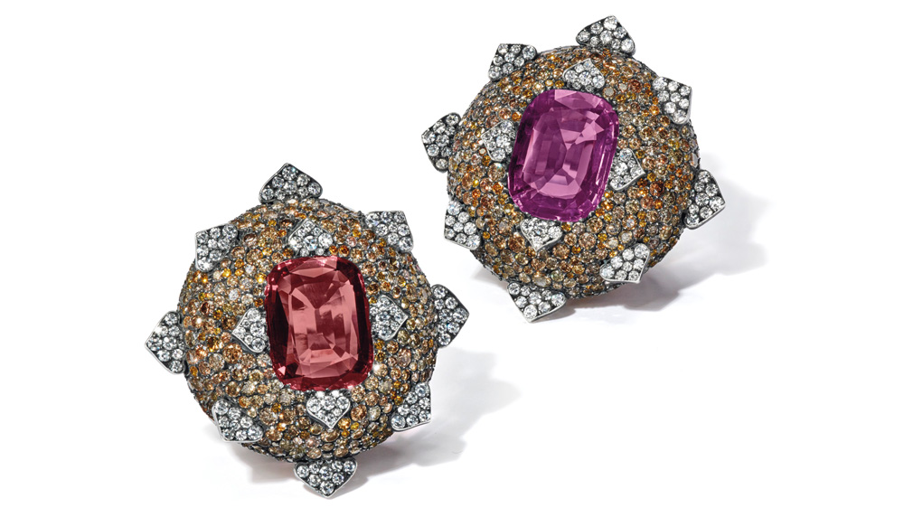 Christie's JAR Sapphire, Spinel and Diamond Earrings