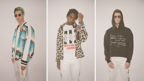Three looks from Lost Daze's most recent collection