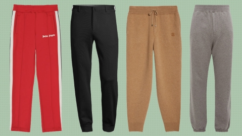 Sweatpants from Palm Angels, Corneliani, Burberry and The Row