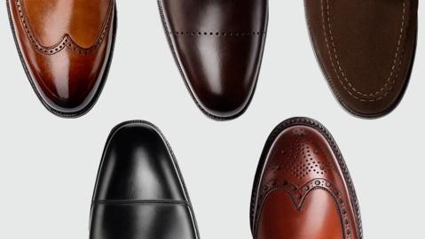 A selection of Crockett & Jones shoes