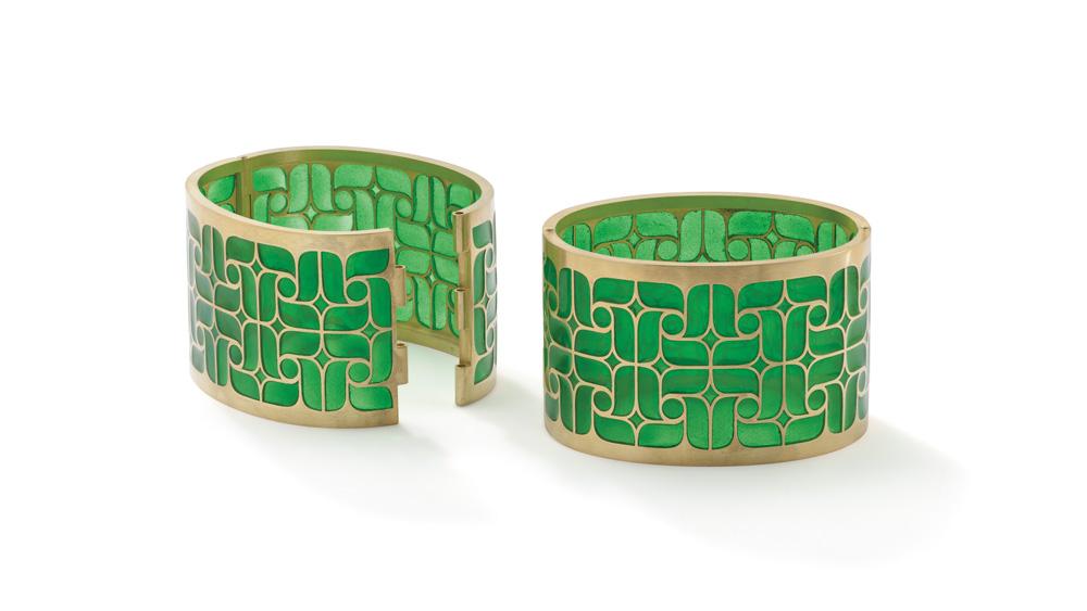 Solange Azagury-Partridge Metamorphosis Secret Garden Cuff Bracelets