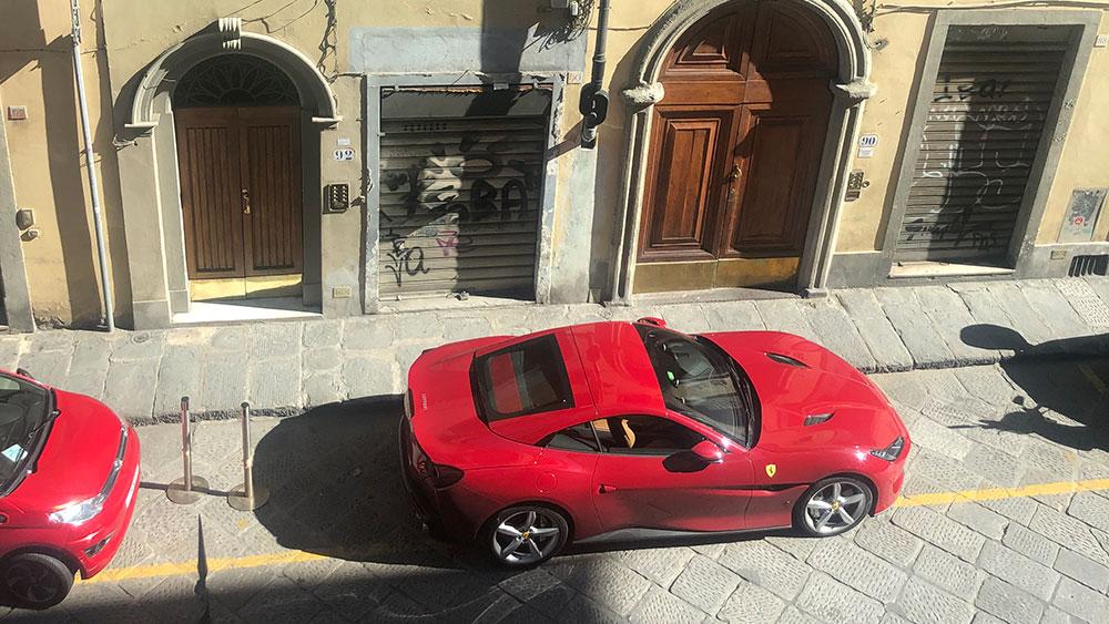 The Ferrari Portofino in Italy.