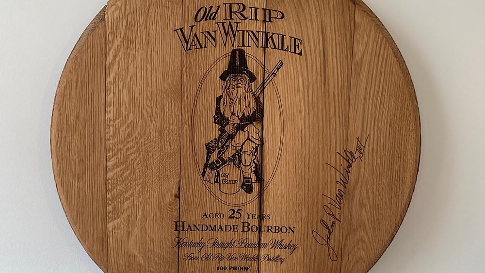 bourbon pappy van winkle 25 Y.O. Old Rip Van Winkle barrel heads