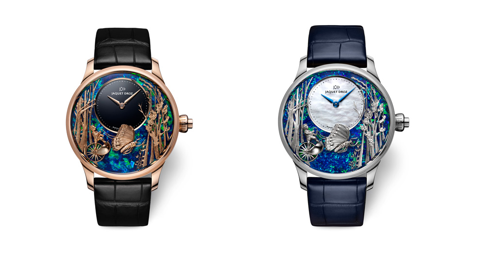 Jaquet Droz Loving Butterfly Automaton with Opal Dial