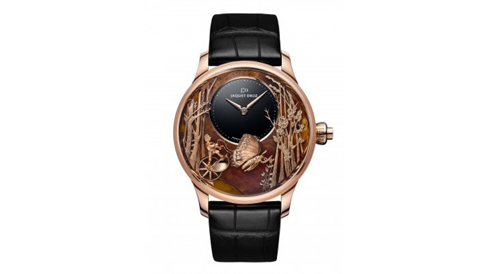 Jaquet Droz Loving Butterfly Automaton in Chinchilla Red