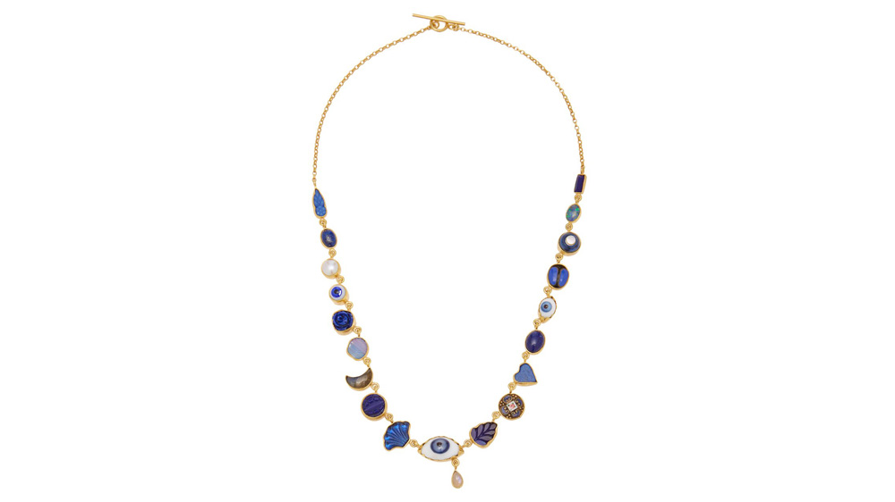 Grainne Morton Blue Eye Teardop Charm Necklace