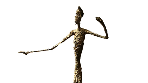 L'Homme au doigt by Alberto Giacometti