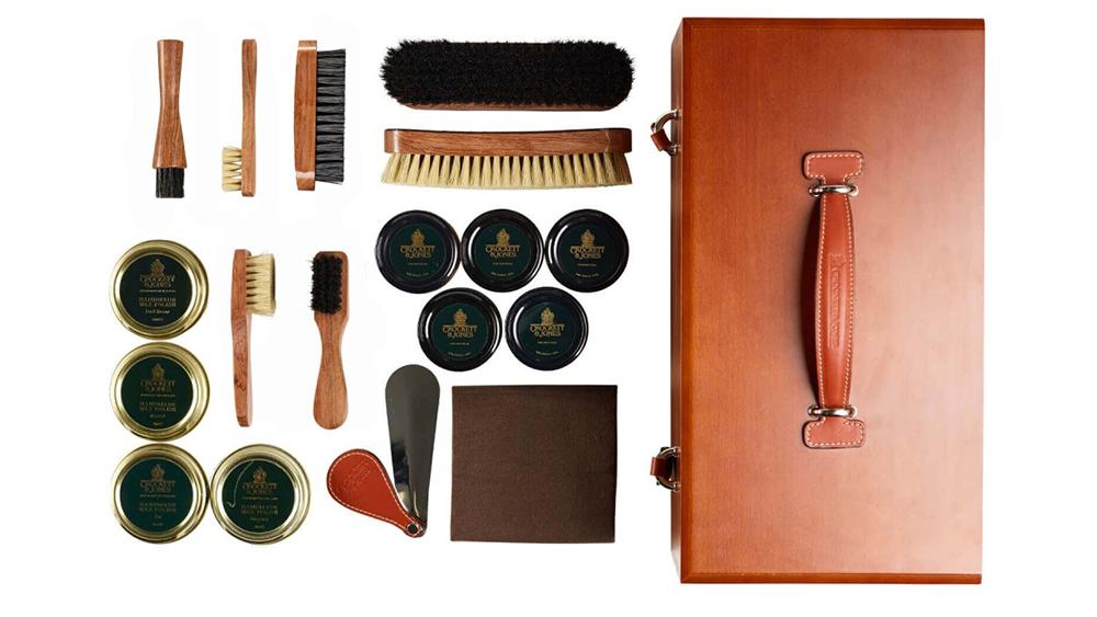 Crockett & Jones luxury shoe care kit
