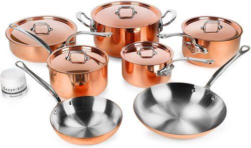Mauviel M'heritage Copper 12-piece Cookware Set