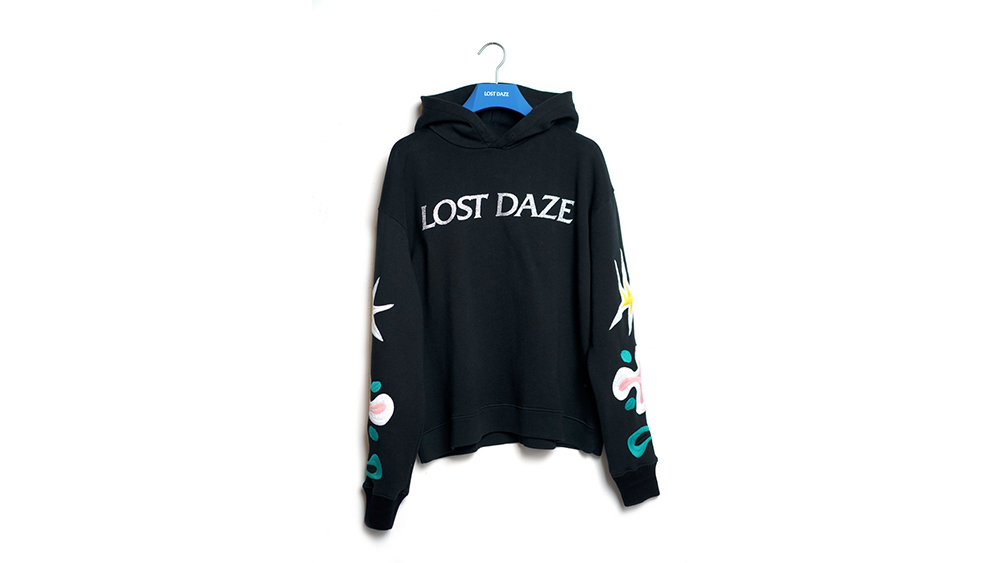 Lost Daze embroidered hoodie
