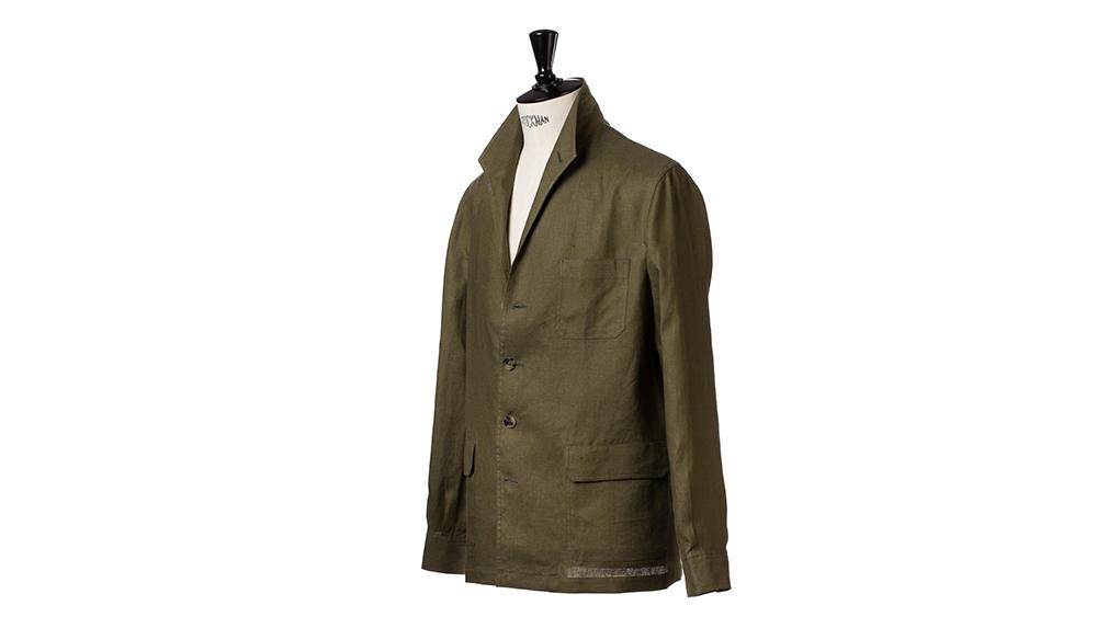 Justo Gimeno's Teba jacket in a lightweight Irish linen.
