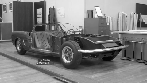 Ford's mid-engine Mustang prototype from 1966